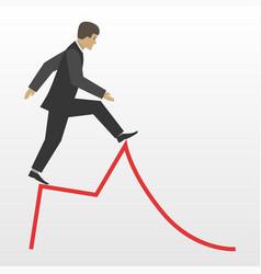 Business risk flat concept vector