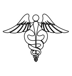 caduceus medical sign vector image
