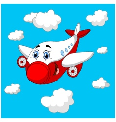 Cartoon plane charachter vector