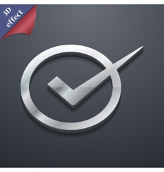 Check mark icon symbol 3D style Trendy modern vector image