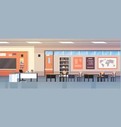 Classroom interior empty modern school class vector