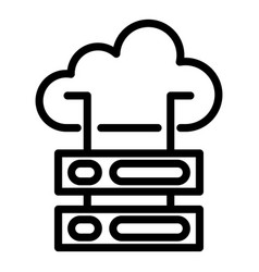Cloud server icon outline style vector