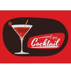 Cocktail icons design vector image