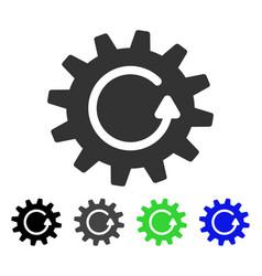 Cogwheel rotation flat icon vector