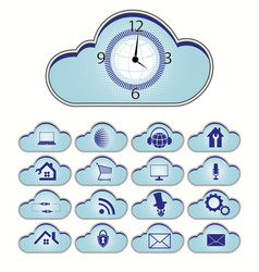 computer cloud set vector image