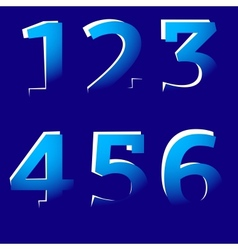 Cut-Off Numbers vector image