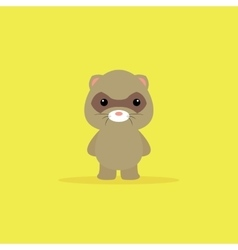 Cute Cartoon opossum vector
