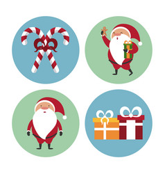 cute christmas icons vector image