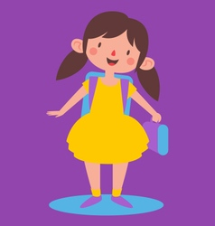 Cute Girl Ready to go Back to School vector