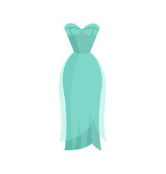 cute vibrant elegant light blue night dress vector image
