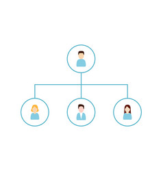 delegating and organization structure icon vector image