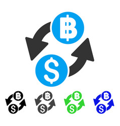 Dollar baht exchange flat icon vector