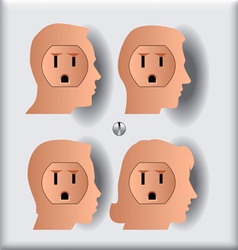 Electrical socket people silos vector