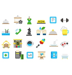 Entertainment isolated icons set vector
