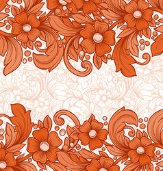 floral hand drawn background vector image vector image