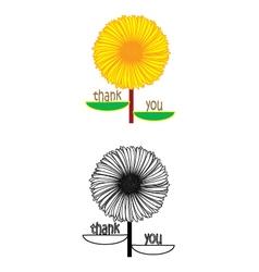 Flower thanksgiving vector
