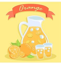 Fresh Orange Juice Pitcher vector