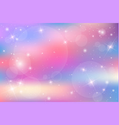 galaxy fantasy background with pastel color vector image