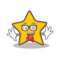 Geek star character cartoon style vector