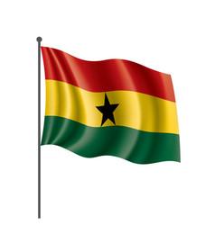 ghana flag on a white vector image