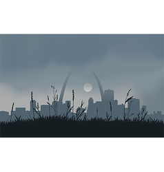 Grey Saint Louis Sunset vector image