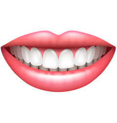 healthy teeth beautiful woman smile isolated on vector image