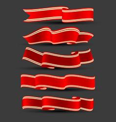 holiday ribbons set vector image