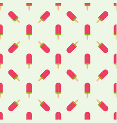 Ice cream seamless pattern background fruit vector