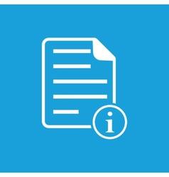 Information page symbol vector
