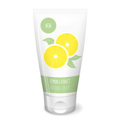 lemon cream white tube vector image