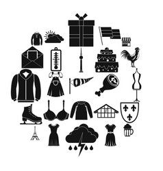 Lightweight clothing icons set simple style vector