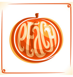 logo for peach vector image