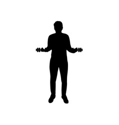 man icon with weights vector image