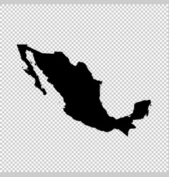 Map mexico isolated black on vector