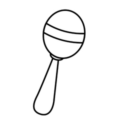 maracas instrument tropical isolated icon vector image