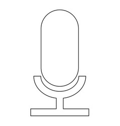 microphone the black color icon vector image