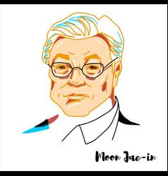 Moon jae-in portrait vector