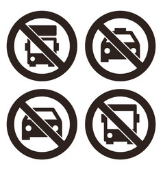 no lorry parking sign no taxi parking no car or vector image