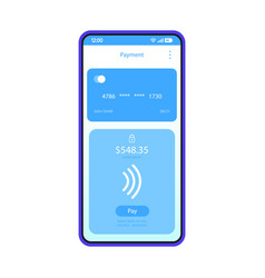 Online payment smartphone interface template vector