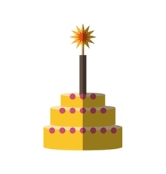 party cake icon image vector image