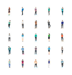 People character flat icons vector