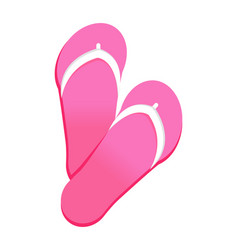 pink flip flops icon isolated vector image