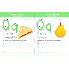 Q for quesadilla and for quince vector