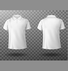 realistic mockup male white polo shirt vector image