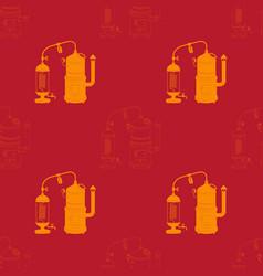 Seamless pattern withdistillation apparatus vector