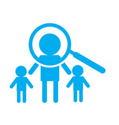 Search person icon on white background search vector