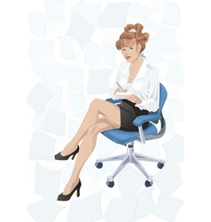 Secretary vector image