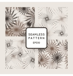 set of seamless geometric patterns of vector image