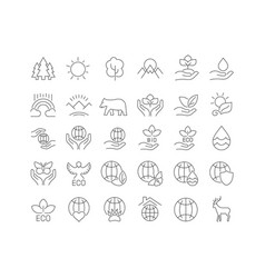Simple icons world environment day vector