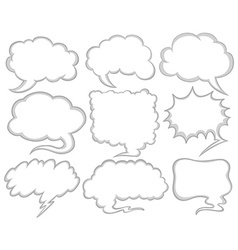 Speech bubbles in different shapes vector image